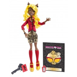 Mattel Monster High Howlywood Deluxe příšerka Clawdia Wolf