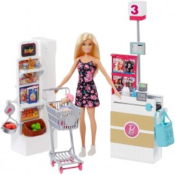 Barbie Supermarket herní set